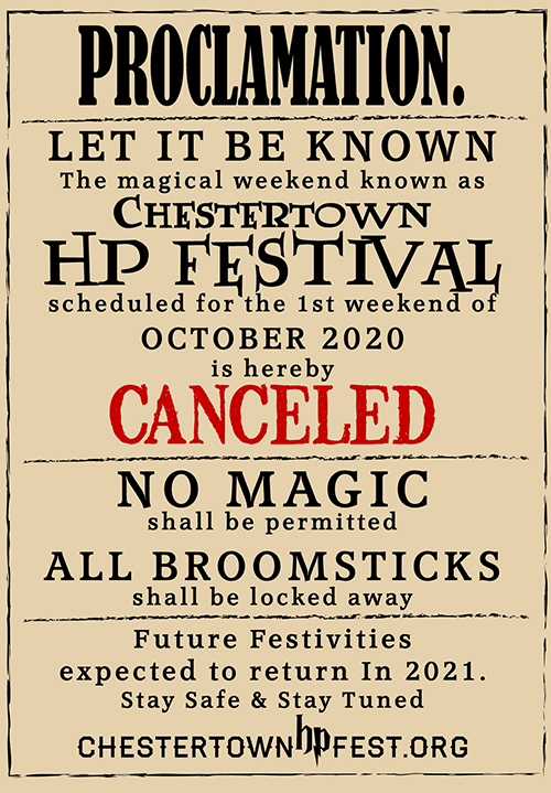 Chestertown Harry Potter Festival Logo